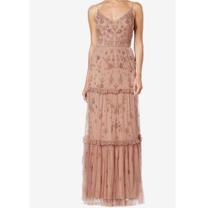 Adrianna Papell tiered beaded dress